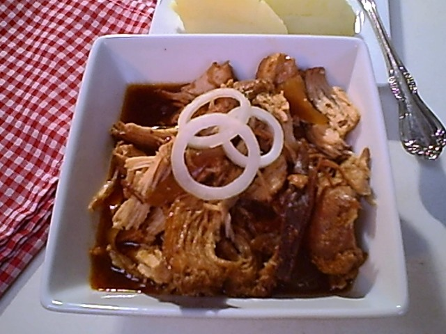 Gluten-Free Barbecue Shredded Chicken in the Slow Cooker