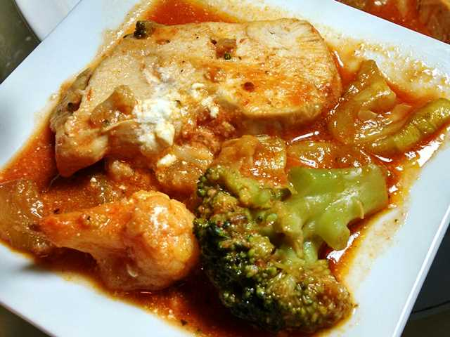 Chicken Broccoli Parmesan in Slow Cooker 01