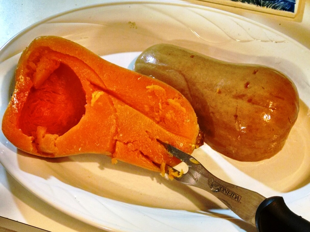 Cooked Butternut Squash, Just Out of the Slow Cooker