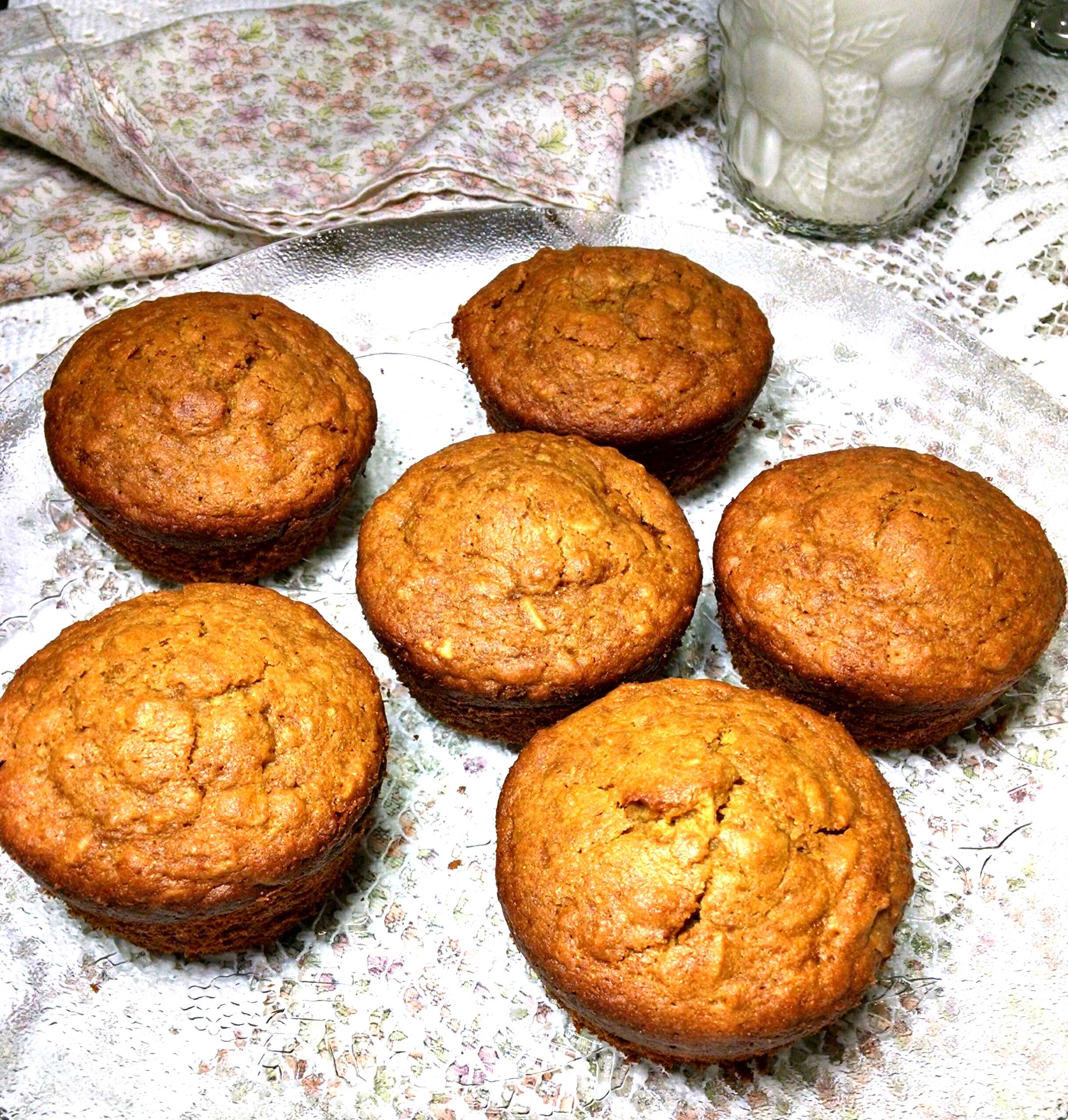 Gluten-free Pumpkin Muffins Made with Oatmeal