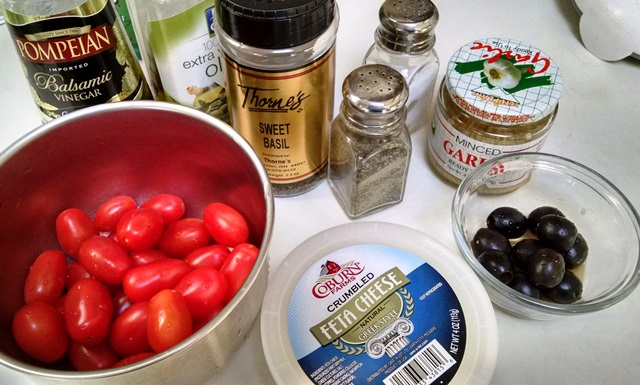 Gluten-Free Tomato and Feta Salad Ingredients