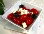 An Easy and Inexpensive Gluten-Free Salad - Tomato and Feta